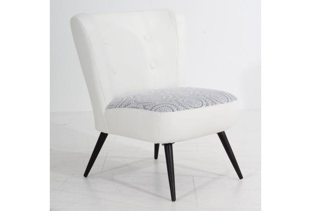 Max Winzer Sessel weiß / grau 69  x  68  x  80