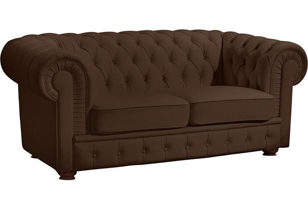 Max Winzer Sofa 2-Sitzer Bridgeport Kunstleder braun 172 x 98 x 76