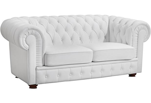 Max Winzer Sofa 2-Sitzer Bridgeport Kunstleder weiß 172 x 98 x 76
