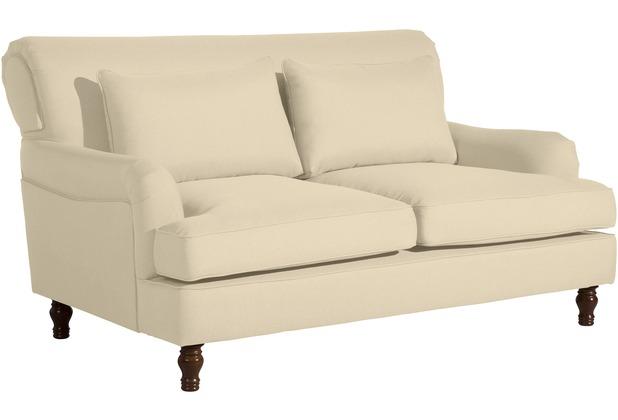 Max Winzer Sofa 2-Sitzer Cortez Flachgewebe beige 160 x 107 x 90
