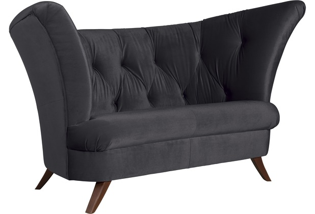 Max Winzer Sofa 2-Sitzer Don Samtvelours anthrazit 179 x 93 x 102
