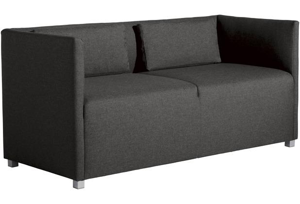 Max Winzer Sofa 2-Sitzer Equal Flachgewebe anthrazit 150 x 65 x 69