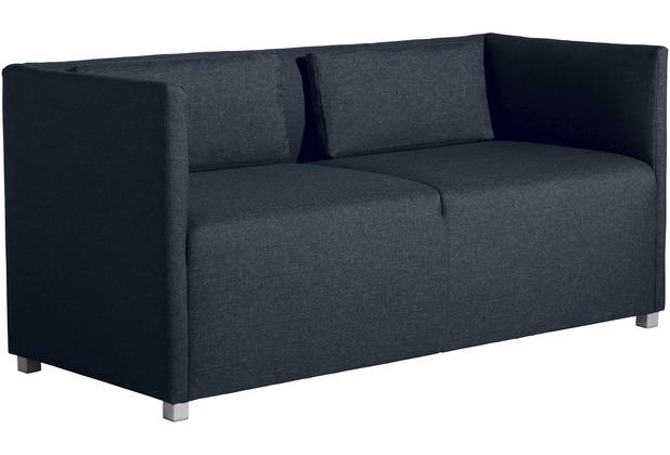 Max Winzer Sofa 2-Sitzer Equal Flachgewebe blau 150 x 65 x 69