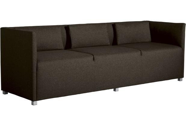 Max Winzer Sofa 2-Sitzer Equal Flachgewebe braun 150 x 65 x 69