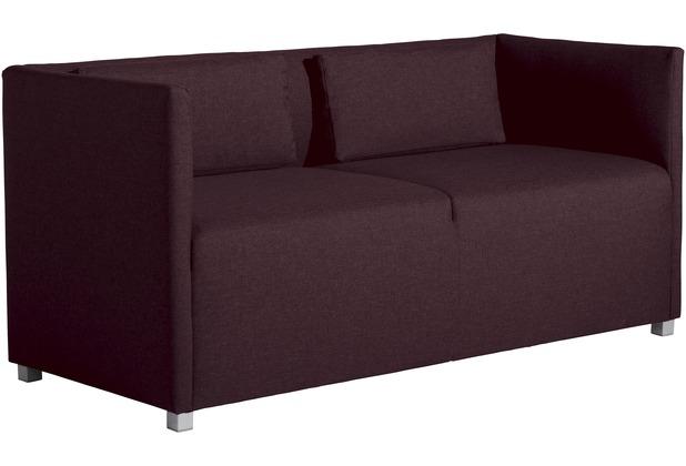 Max Winzer Sofa 2-Sitzer Equal Flachgewebe burgund 150 x 65 x 69