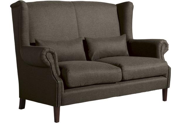 Max Winzer Sofa 2-Sitzer Flora Flachgewebe braun 175 x 94 x 112