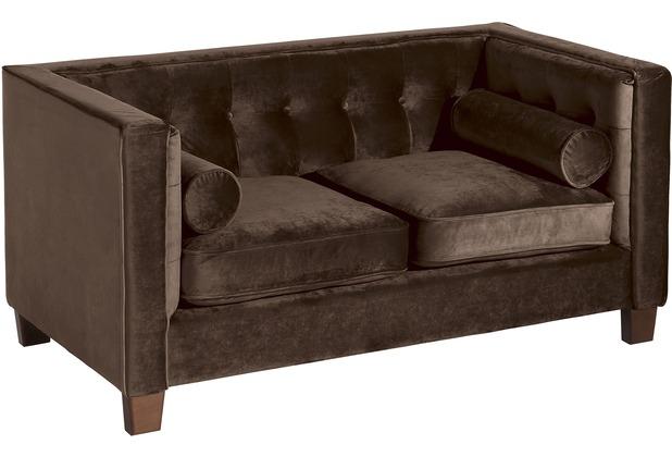 Max Winzer Sofa 2-Sitzer Jobbia Samtvelours braun 154 x 85 x 74