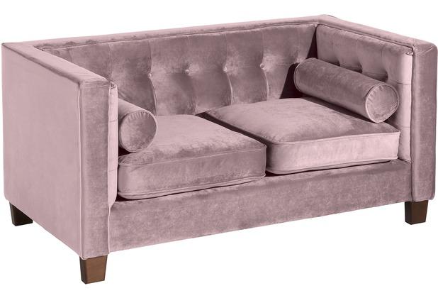 Max Winzer Sofa 2-Sitzer Jobbia Samtvelours mauve 154 x 85 x 74