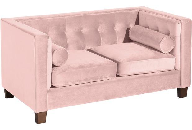 Max Winzer Sofa 2-Sitzer Jobbia Samtvelours rosé 154 x 85 x 74
