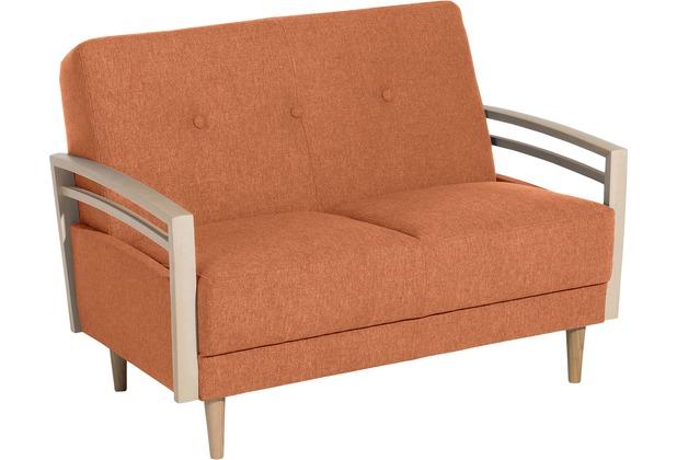 Max Winzer Sofa 2-Sitzer Jooris Microfaser in Filzoptik (Teflon beschichtet) terracotta 117 x 82 x 85