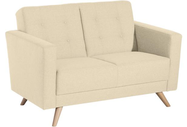 Max Winzer Sofa 2-Sitzer Julian Flachgewebe beige 128 x 83 x 81