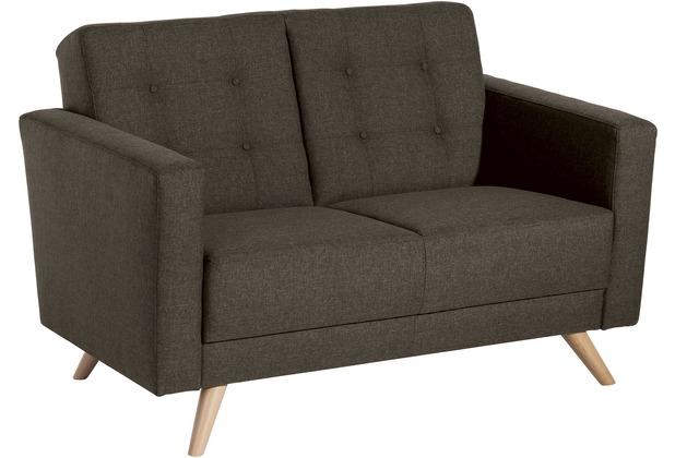 Max Winzer Sofa 2-Sitzer Julian Flachgewebe braun 128 x 83 x 81