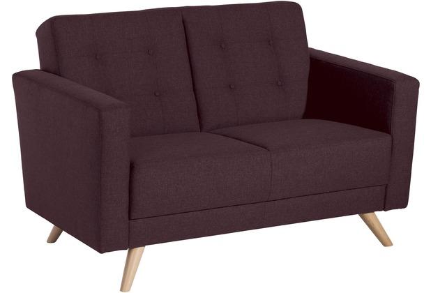 Max Winzer Sofa 2-Sitzer Julian Flachgewebe burgund 128 x 83 x 81