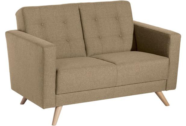 Max Winzer Sofa 2-Sitzer Julian Flachgewebe sand 128 x 83 x 81