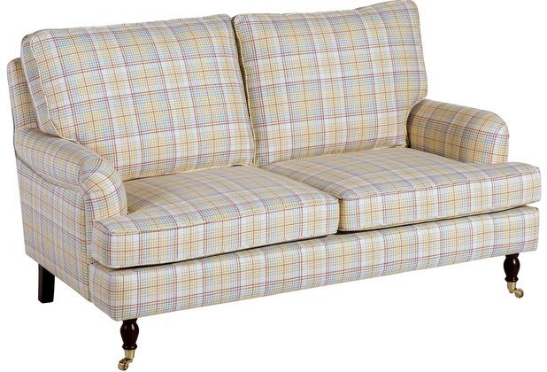 Max Winzer Sofa 2-Sitzer Passion Flachgewebe gelb 158 x 108 x 94