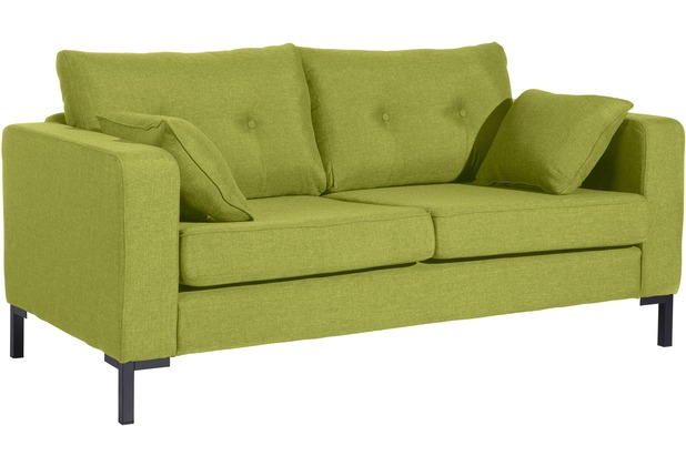Max Winzer Sofa 2-Sitzer Tiflis Flachgewebe apfel 170 x 90 x 80