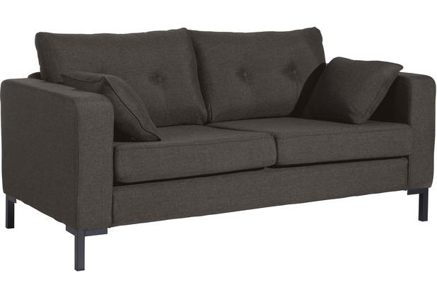 Max Winzer Sofa 2-Sitzer Tiflis Flachgewebe braun 170 x 90 x 80