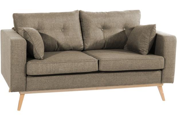 Max Winzer Sofa 2-Sitzer Tomme Flachgewebe (Leinenoptik) sahara 170 x 90 x 85