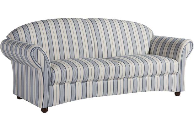 Max Winzer Sofa 2,5-Sitzer Corona Flachgewebe blau 202 x 81 x 85