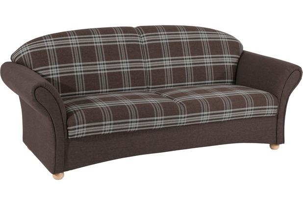 Max Winzer Sofa 2,5-Sitzer Corona Flachgewebe braun 202 x 81 x 85