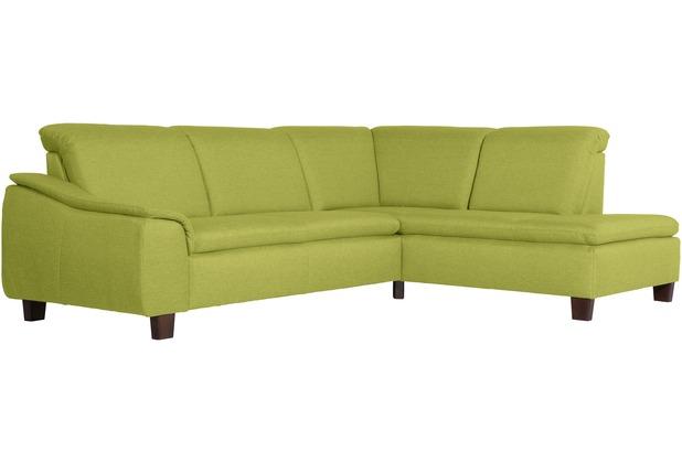 Max Winzer Sofa 2,5-Sitzer links mit Ecksofa rechts Aaron Flachgewebe apfel 247 x 187 x 82