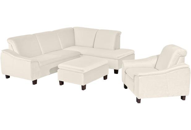 Max Winzer Sofa 2,5-Sitzer links mit Ecksofa rechts Aaron Samtvelours weiss 247 x 187 x 82