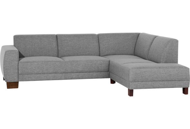 Max Winzer Sofa 2,5-Sitzer links mit Ecksofa rechts Blackpool Flachgewebe (Leinenoptik) grau 248 x 188 x 75