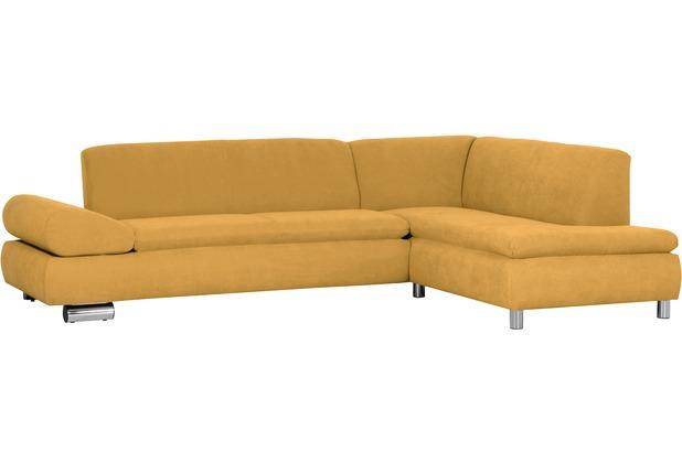 Max Winzer Sofa 2,5-Sitzer links mit Ecksofa rechts Palm Bay Veloursstoff mais 270 x 190 x 76