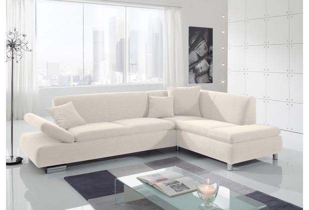 Max Winzer Sofa 2,5-Sitzer links mit Ecksofa rechts Terrence feines Strukturgewebe creme 270 x 190 x 76