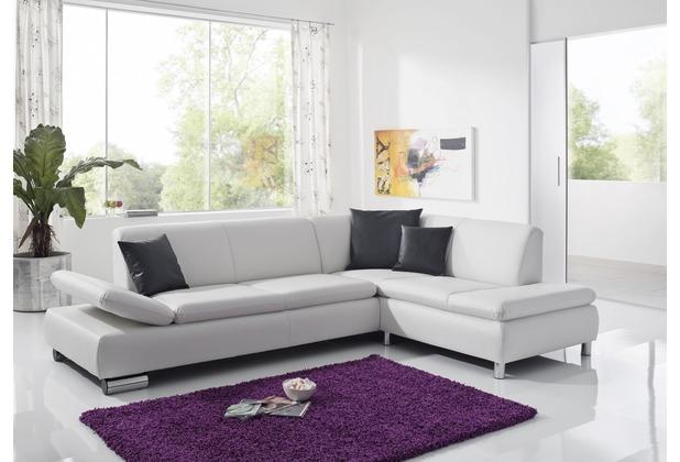 Max Winzer Sofa 2,5-Sitzer links mit Ecksofa rechts Terrence Kunstleder weiß 270 x 190 x 76