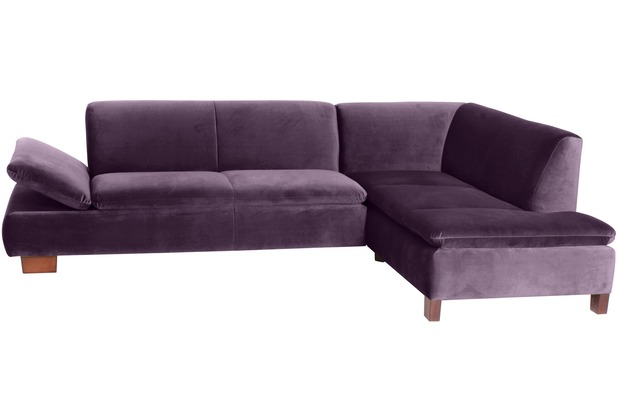 Max Winzer Sofa 2,5-Sitzer links mit Ecksofa rechts Terrence Samtvelours purple 270 x 190 x 76