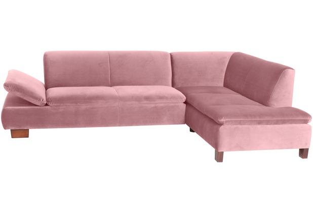 Max Winzer Sofa 2,5-Sitzer links mit Ecksofa rechts Terrence Samtvelours rosé 270 x 190 x 76