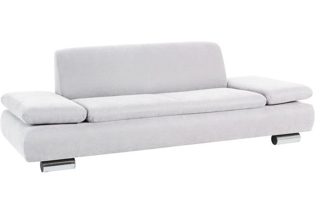 Max Winzer Sofa 2,5-Sitzer Terrence Veloursstoff creme 221 x 90 x 76