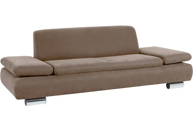 Max Winzer Sofa 2,5-Sitzer Terrence Veloursstoff sahara 221 x 90 x 76