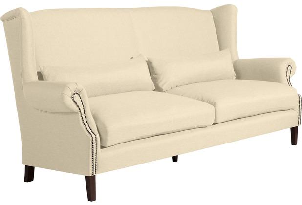 Max Winzer Sofa 3-Sitzer (2-geteilt) Flora Flachgewebe beige 234 x 94 x 112