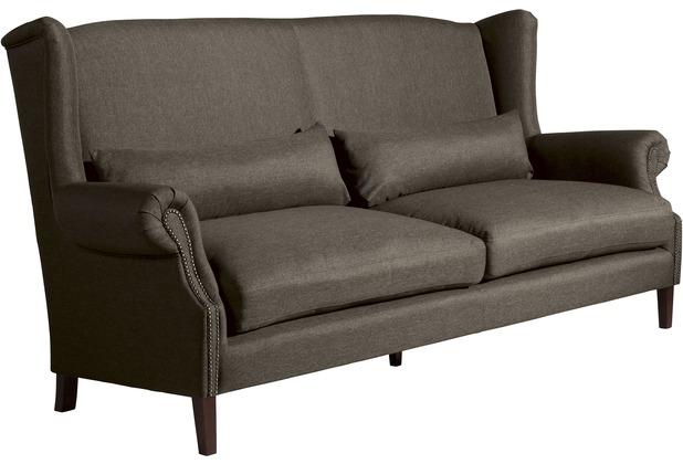 Max Winzer Sofa 3-Sitzer (2-geteilt) Flora Flachgewebe braun 234 x 94 x 112