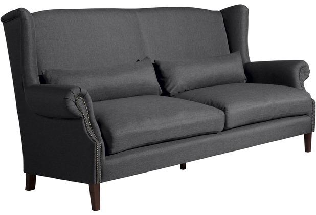 Max Winzer Sofa 3-Sitzer (2-geteilt) Flora Flachgewebe graphit 234 x 94 x 112