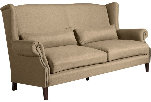 Max Winzer Sofa 3-Sitzer (2-geteilt) Flora Flachgewebe sand 234 x 94 x 112