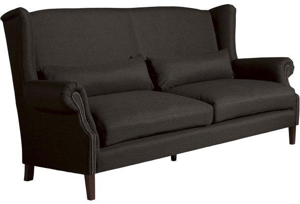 Max Winzer Sofa 3-Sitzer (2-geteilt) Flora Flachgewebe schoko 231 x 94 x 112