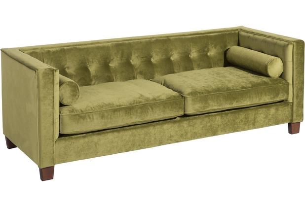 Max Winzer Sofa 3-Sitzer (2-geteilt) Jobbia Samtvelours oliv 215 x 85 x 74
