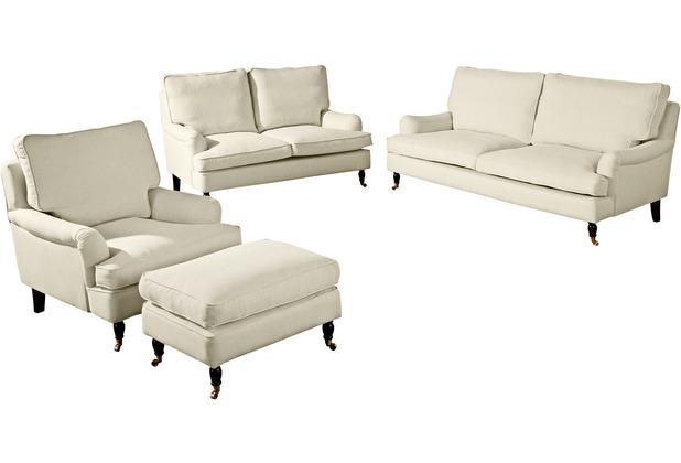 Max Winzer Sofa 3-Sitzer (2-geteilt) Passion Flachgewebe (Leinenoptik) creme 210 x 108 x 94