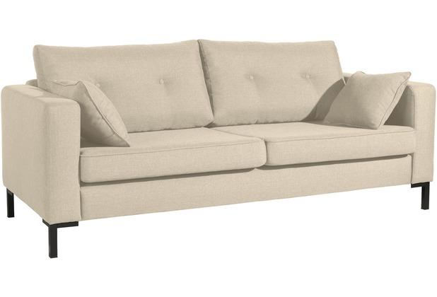 Max Winzer Sofa 3-Sitzer (2-geteilt) Tiflis Flachgewebe beige 200 x 90 x 80