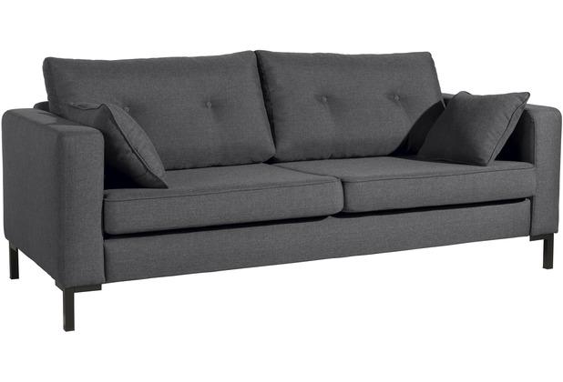 Max Winzer Sofa 3-Sitzer (2-geteilt) Tiflis Flachgewebe graphit 200 x 90 x 80