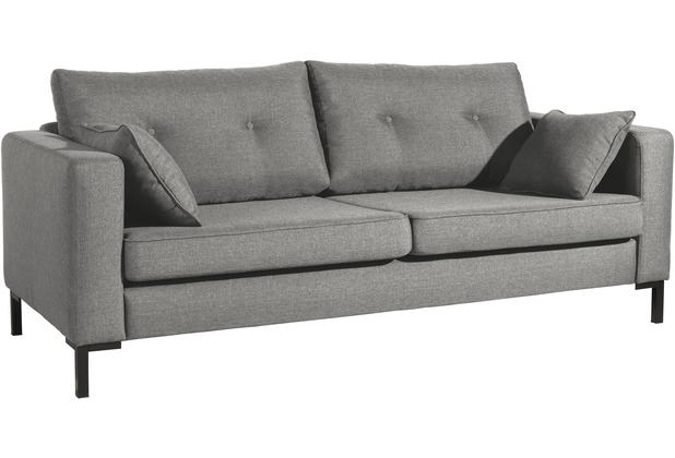 Max Winzer Sofa 3-Sitzer (2-geteilt) Tiflis Flachgewebe hellgrau 200 x 90 x 80