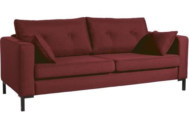 Max Winzer Sofa 3-Sitzer (2-geteilt) Tiflis Flachgewebe rot 200 x 90 x 80