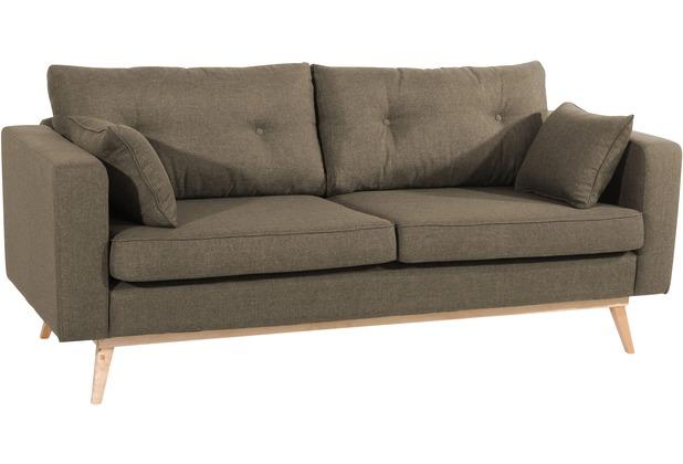 Max Winzer Sofa 3-Sitzer (2-geteilt) Tomme Flachgewebe (Leinenoptik) sahara 200 x 90 x 85