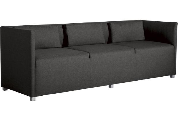 Max Winzer Sofa 3-Sitzer Equal Flachgewebe anthrazit 210 x 65 x 69