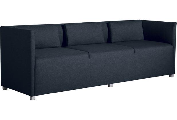 Max Winzer Sofa 3-Sitzer Equal Flachgewebe blau 210 x 65 x 69