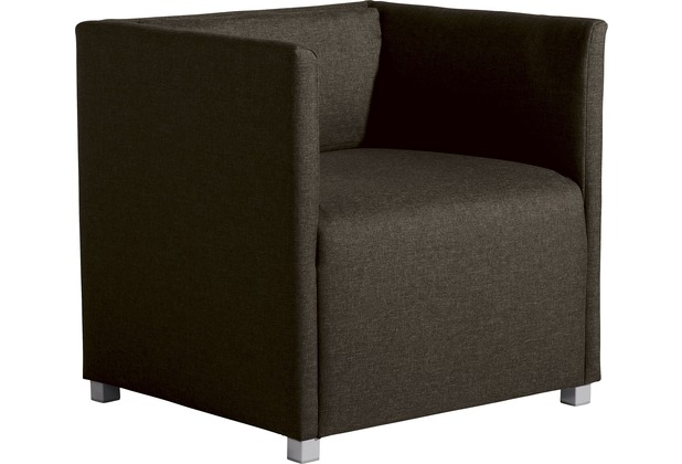 Max Winzer Sofa 3-Sitzer Equal Flachgewebe braun 210 x 65 x 69