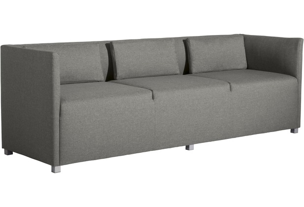 Max Winzer Sofa 3-Sitzer Equal Flachgewebe hellgrau 210 x 65 x 69
